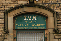"© Licensed to London News Pictures. 01/04/2016. Dewsbury, UK. The Tarbiyah Academy in Dewsbury, West Yorkshire, which is under investigation for 'promoting extremism'. The private Islamic school is under investigation after allegations it is teaching an ""extreme form of Islam.  Photo credit : Ian Hinchliffe/LNP"