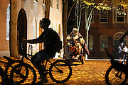 Salem, MA 103109   Salem resident Jerry Bottari (Cq) watches Halloween goers take over the streets of Salem on Halloween night in 2009. According to Salem Police Department close to 100,000 people showed up at this city of about 41,000 to celebrate Halloween. (Essdras M Suarez/ ZUMA)