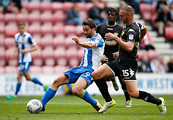 Wigan Athletic's Will Grigg fires a shot at goal - Mandatory by-line: Matt McNulty/JMP - 13/08/2017 - FOOTBALL - DW Stadium - Wigan, England - Wigan Athletic v Bury - Sky Bet League One