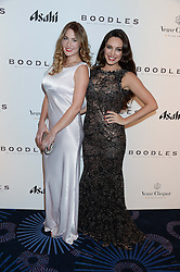 British fine jewellery brand Boodles welcomed guests for the 2013 Boodles Boxing Ball in aid of Starlight Children's Foundation held at the Grosvenor House Hotel, Park Lane, London on 21st September 2013.<br /> Picture Shows:-KELLY BROOK and her cousin SALLY GRIFFITHS.<br /> <br /> Press release - https://www.dropbox.com/s/a3pygc5img14bxk/BBB_2013_press_release.pdf<br /> <br /> For Quotes  on the event call James Amos on 07747 615 003 or email jamesamos@boodles.com. For all other press enquiries please contact luciaroberts@boodles.com (0788 038 3003)