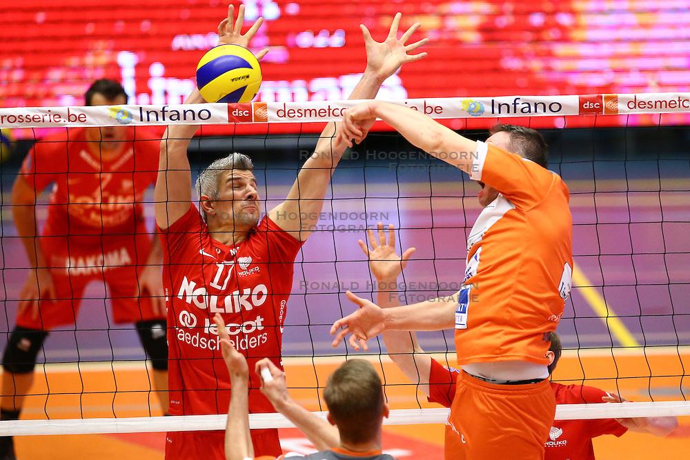 20160402 BEL: Volleybal: Volley Lindemans Asse Lennik - Noliko Maaseik, Zellik  <br />Rob Bontje