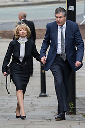 © Licensed to London News Pictures . 30/05/2015 . Manchester , UK . Helen Worth arrives  . A public memorial for Coronation Street actress Anne Kirkbride at Manchester Cathedral , who died on 19th January 2015 . Photo credit : Joel Goodman/LNP