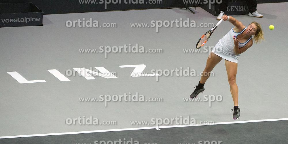 17.10.2015, TipsArena, Linz, AUT, WTA, Generali Ladies Linz, Semifinale, im Bild Anna-Lena Friedsam (GER) // Anna-Lena Friedsam of Germany during WTA Generali Ladies Linz, Tournament semifinals at the TipsArena, Linz, Austria on 2015/10/17, EXPA Pictures © 2015, PhotoCredit: EXPA/ Reinhard Eisenbauer