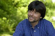 Ken Burns between shots at Antietam Battlefield