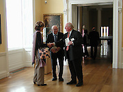 Lord and Lady Montagu and James Miller, Official opening Compton Verney, 23 March 2004. ONE TIME USE ONLY - DO NOT ARCHIVE  © Copyright Photograph by Dafydd Jones 66 Stockwell Park Rd. London SW9 0DA Tel 020 7733 0108 www.dafjones.com