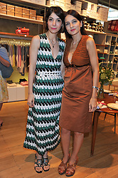 Left to right, EVA KARAYANNIS and YASMIN MILLS at a ladies lunch in aid of Mothers4Children hosted by Carmelbabyandchild at 259 Pavillion Road, London SW1 on 30th June 2011.
