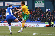Oldham - Saturday February 26th, 2010 :  Chris Martin of Norwich in action during the Coca Cola League One match at Boundary Park, Oldham. (Pic by Paul Chesterton/Focus Images)..