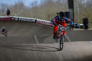 #388 (BAAUW Judy) NED at the 2018 UCI BMX Superscross World Cup in Saint-Quentin-En-Yvelines, France.
