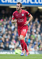 Football - 2016/2017 Premier League - Chelsea V Leicester.<br /> <br /> Christian Fuchs of Leicester City at Stamford Bridge.<br /> <br /> COLORSPORT/DANIEL BEARHAM