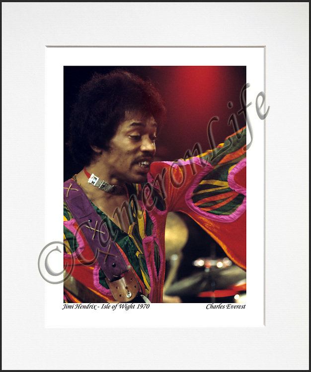 Jimi Hendrix - An affordable archival quality matted print ready for framing at home.<br />