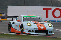 Michael Wainwright (GBR) / Adam Carroll (GBR) / Ben Barker (GBR) #86 Gulf Racing UK Porsche 911 RSR,  at Silverstone, Towcester, Northamptonshire, United Kingdom. April 15 2016. World Copyright Peter Taylor.