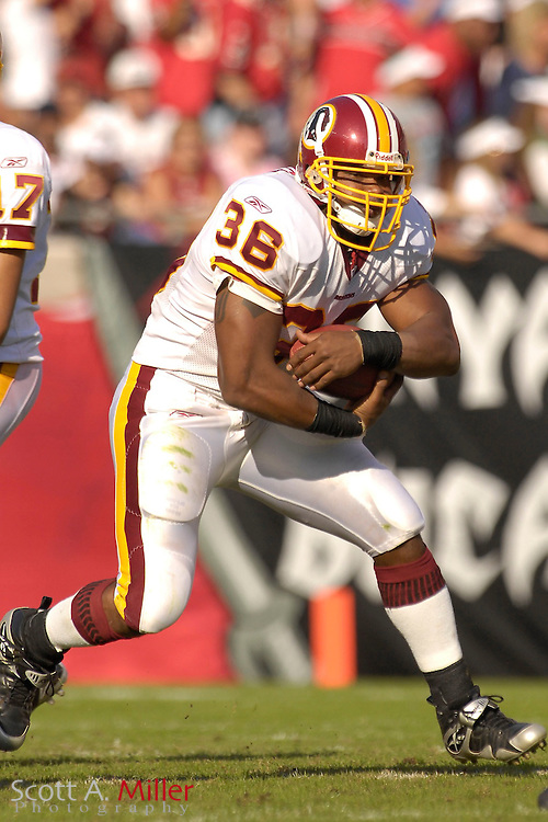 Nov. 19, 2006; Tampa, FL, USA;  Washington Redskins running back (36) T.J. Duckett in action during the Redskins game against the Tampa Bay Buccaneers at Raymond James Stadium. ...©2006 Scott A. Miller
