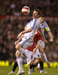 Manchester, England - Tuesday, March 13, 2007: Europe XI's Kim Kallstrom in action against Manchester United during the UEFA Celebration Match at Old Trafford. (Pic by David Rawcliffe/Propaganda)