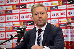July 23, 2018 - Warsaw, Mazowsze, Poland - New coach of the Poland national football team Jerzy Brzeczek during a press conference at National Stadium in Warsaw, Poland on 23 July 2018. Jerzy Brzeczek, a former captain of Poland's national team, has been chosen as the team's new coach after Adam Nawalka's contract was not extended following Poland's World Cup exit. (Credit Image: © Mateusz Wlodarczyk/NurPhoto via ZUMA Press)