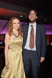Professor Kate Williams and Marcus Gipps at the Costa Book of The Year Awards held at Quaglino's, 16 Bury Street, London England. 31 January 2017.