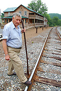 More than 60 years ago Edgar Taylor used this same claw bar to pull.spikes. bend rails and nudge ties while working on a section gang maintaining the Western Maryland Railroad from Union Bridge to Port Covington, as well as this stretch of rails running through his .hometown of Patapsco.