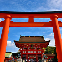 Main Gate at Fushimi Inari Taisha in Kyoto, Japan<br />