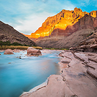 Sunrise image of little Colorado in the Grand Canyon.
