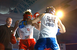 JOHN MACKENZIE (blue shorts) and CONSTANTIN SACHSEN WEIMAR (red shorts) at the Boodles Boxing Ball in aid of the sports charity Sparks  organised by Jez lawson, James Amos and Charlie Gilkes held at The Royal Lancaster Hotel, Lancaster Terrae London W2 on 3rd June 2006.<br /> <br /> NON EXCLUSIVE - WORLD RIGHTS