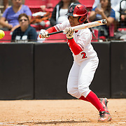 01 May 2016: The San Diego State Aztecs softball team closed out a weekend series against Utah State with an 8-6 win.