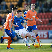 St Johnstone v Rangers…23.12.18…   McDiarmid Park    SPFL<br />Blair Alston and Lee Wallace<br />Picture by Graeme Hart. <br />Copyright Perthshire Picture Agency<br />Tel: 01738 623350  Mobile: 07990 594431