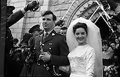 1964 - Wedding of Lieutenant Gerard Wright and Miss Maeve Edge at the Church of St. Agnes, Crumlin