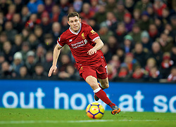 LIVERPOOL, ENGLAND - Sunday, February 4, 2018: Liverpool's James Milner during the FA Premier League match between Liverpool FC and Tottenham Hotspur FC at Anfield. (Pic by David Rawcliffe/Propaganda)