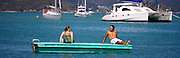 people on pontoon at Russell, Bay of Islands