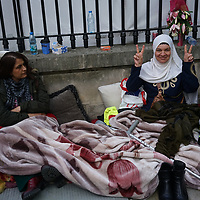 Kurds on Hunger Strike opposite Downing street,London,UK