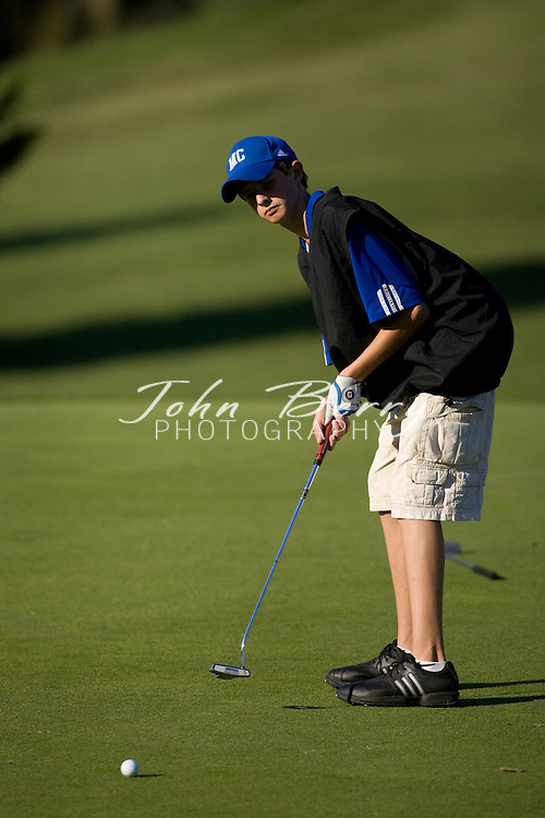 MCHS Golf.vs Clarke.9/18/2007.. Golf.Wednesday, 19 September 2007.The Golf team lost to Clarke yesterday 168-170. Joe Canosa led the way with a 9 hole round of 37. Kyle Louk (43), Cory Hall (45), and Tyler Coppage (45) rounded out the scoring for Madison.