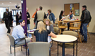 Prospective students and their parents talk with admissions staff members during an open house at Waldorf College in Forest City, Iowa on Saturday, May 14, 2011.