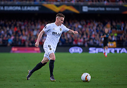 March 7, 2019 - Valencia, U.S. - VALENCIA, SPAIN - MARCH 07: Kevin Gameiro, forward of Valencia CF in action with the ball during the UEFA Europa League Round of 16 First Leg match between Valencia v Krasnodar at Estadio de Mestalla on March 7, 2019 in Valencia, Spain. (Photo by Carlos Sanchez Martinez/Icon Sportswire) (Credit Image: © Carlos Sanchez Martinez/Icon SMI via ZUMA Press)