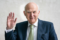 © Licensed to London News Pictures. 19/05/2019. London, UK. Leader of the Liberal Democrats Sir Vince Cable arriving at BBC Broadcasting House to appear on The Andrew Marr Show this morning. Photo credit : Tom Nicholson/LNP