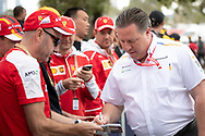 ALBERT PARK, VIC - MARCH 15: McLaren F1 Team boss Zak Brown arrives at The Australian Formula One Grand Prix on March 15, 2019, at The Melbourne Grand Prix Circuit in Albert Park, Australia. (Photo by Speed Media/Icon Sportswire)