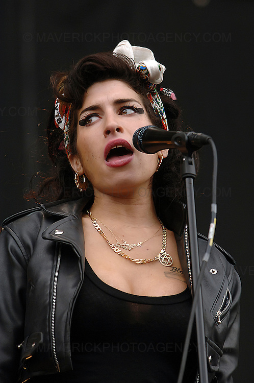 BALADO, KINROSS, SCOTLAND - JULY 13th 2008: Amy Winehouse performs live at T in the Park 2008.