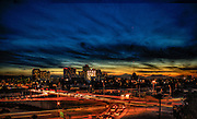 Downtown Phoenix skyline shot just after the sunset. This view is looking southwest from the I-10 and 7th Street area.