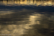Morning clouds reflected in Lake Washington