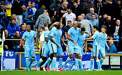 Samir Nasri of Manchester City celebrates after scoring his sides second goal  - Mandatory byline: Matt McNulty/JMP - 07966386802 - 23/08/2015 - FOOTBALL - Goodison Park -Everton,England - Everton v Manchester City - Barclays Premier League