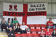 Picture by David Horn/Focus Images Ltd +44 7545 970036.21/08/2012.Leyton Orient fans during the npower League 1 match at the Matchroom Stadium, London.