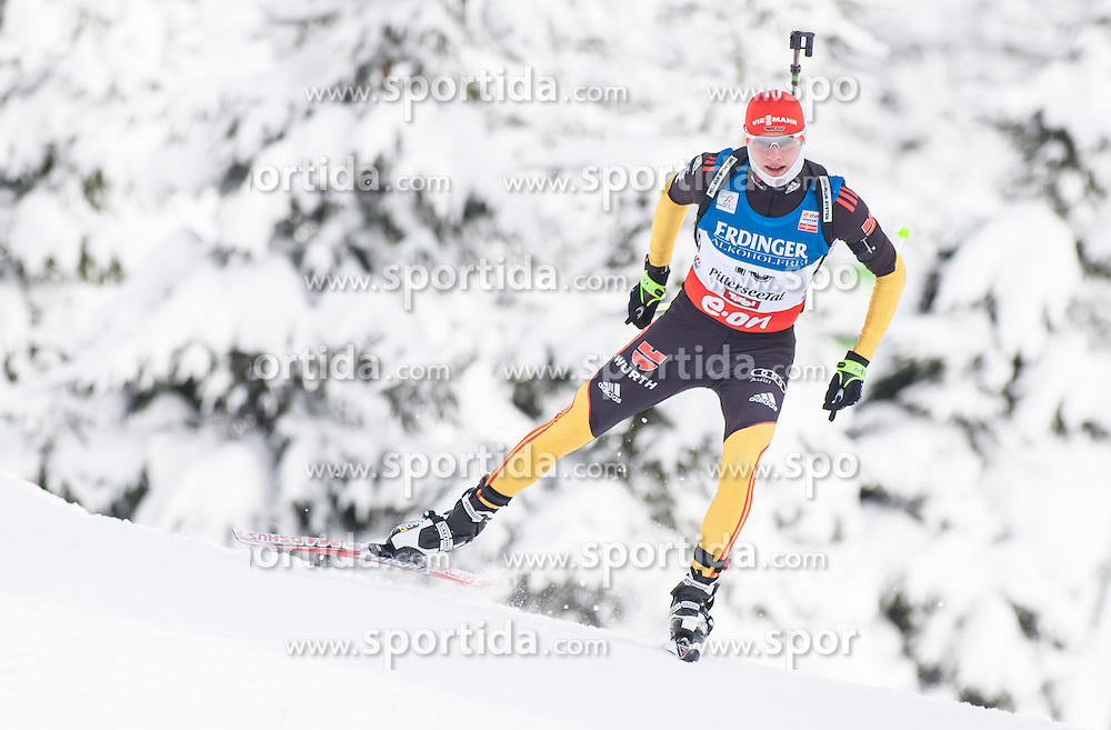 07.12.2012, Biathlonarena, Hochfilzen, AUT, E.ON IBU Weltcup, Sprint, Herren, im Bild Benedikt Doll (GER) // Benedikt Doll of Germany during Mens sprint of E.ON IBU Biathlon World Cup at the Biathlonstadium in Hochfilzen, Austria on 2012/12/07. EXPA Pictures © 2012, PhotoCredit: .EXPA/ Juergen Feichter