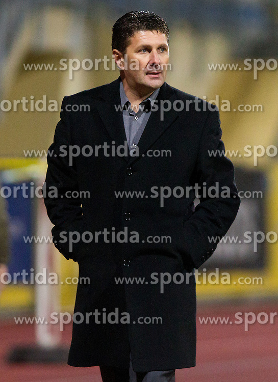 Stevan Mojsilovic, head coach of Domzale during football match between NK Domzale vs ND Gorica in 17th Round of PrvaLiga NZS 2012/13 on November 7, 2012 in Sports park Domzale, Slovenia. Gorica defeated Domzale 1-0. (Photo By Vid Ponikvar / Sportida)