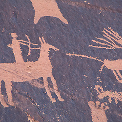 Newspaper Rock, S.P., UT..Near Monticello.  Petroglyphs.