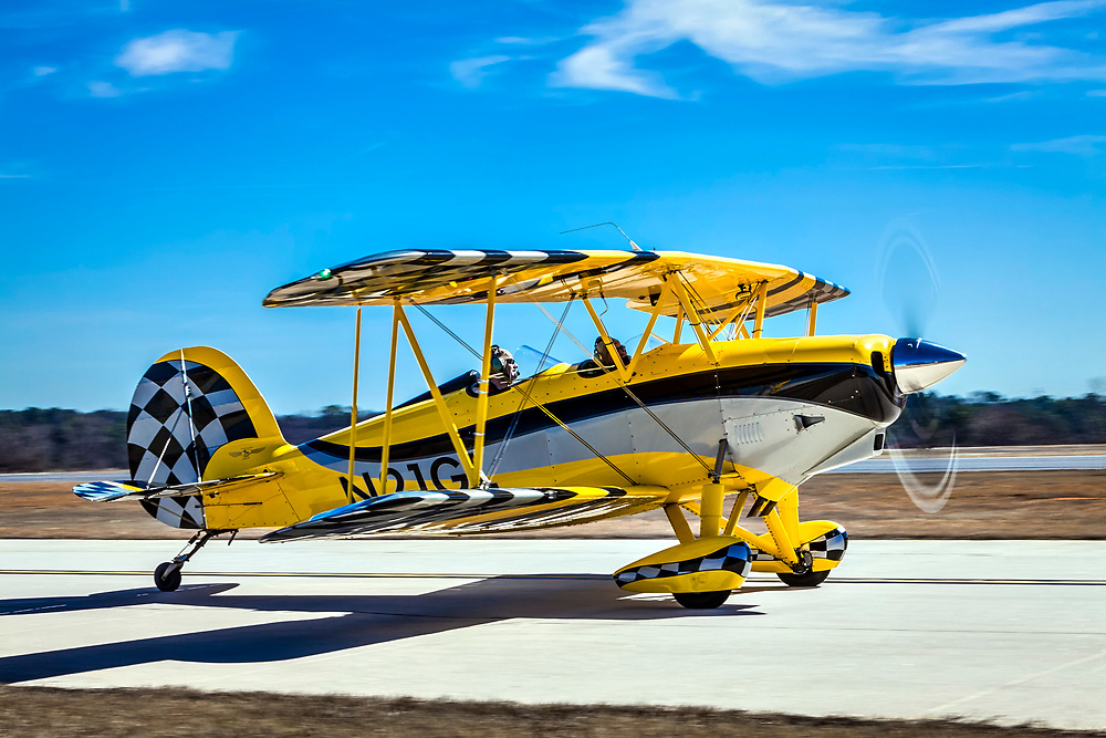 A fully aerobatic, 180 horsepower aircraft, the new Great Lakes biplane features extraordinary handling attributes and great instrumentation. While very similar to the WACO YMF-5D model, the new Great Lakes biplane is smaller, featuring simple avionics and systems.    <br /> <br /> Created by aviation photographer John Slemp of Aerographs Aviation Photography. Clients include Goodyear Aviation Tires, Phillips 66 Aviation Fuels, Smithsonian Air & Space magazine, and The Lindbergh Foundation.  Specialising in high end commercial aviation photography and the supply of aviation stock photography for advertising, corporate, and editorial use.