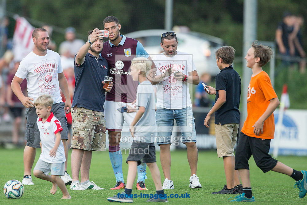 Rudy Gestede of Aston Villa poses for pictures during the pre season friendly match at Sportcentre Weinzoedl, Graz, Austria.<br /> Picture by EXPA Pictures/Focus Images Ltd 07814482222<br /> 09/07/2016<br /> *** UK &amp; IRELAND ONLY ***<br /> EXPA-IES-160709-0025.jpg