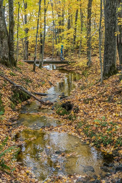 Fall hike at Pictured Rocks National Lakeshore near Munising, Michigan.