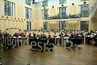 18 MAR 2005, BERLIN/GERMANY:<br /> Uebersicht Plenarsaal, waehrend einer Debatte, Plenum, Bundesrat<br /> IMAGE: 20050318-02-053<br /> KEYWORDS: Übersicht, Schriftzug