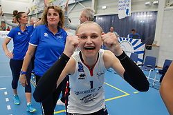 20190424 NED: Sliedrecht Sport - VC Sneek: Sliedrecht<br /> Sliedrecht Sport Nederlands Kampioen Volleybal Seizoen 2018 - 2019, Christie Wolt (1) of Sliedrecht Sport <br /> ©2019-FotoHoogendoorn.nl / Pim Waslander