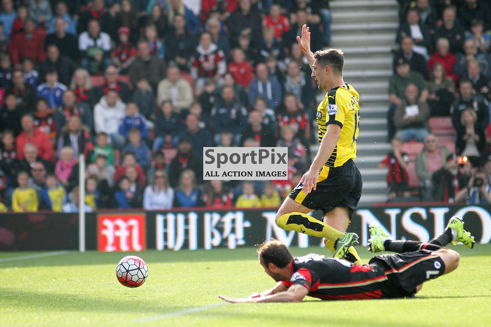 Glen Murray misses the ball During Bournemouth vs Watford on Saturday 3rd of October 2015.