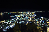 Aalesund by night.<br />