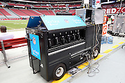 A sideline communications cart stands ready for the Arizona Cardinals 2014 NFL preseason football game against the Houston Texans on Saturday, Aug. 9, 2014 in Glendale, Ariz. The Cardinals won the game in a 32-0 shutout. ©Paul Anthony Spinelli